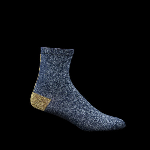Couture Sock in Navy & Gold