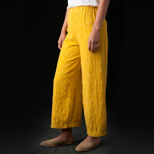 Jacquard Pant in Gold