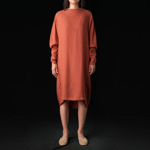 Elastic Dress in Brick