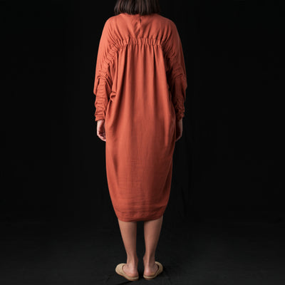 Black Crane - Elastic Dress in Brick
