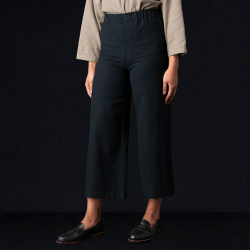 Wide Pant in Navy