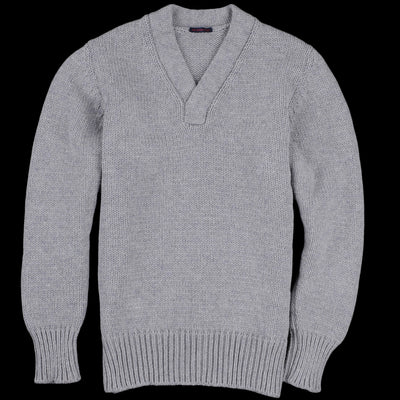 East Harbour Surplus - Michael Vee Neck Sweater in Grey