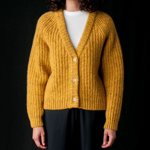 Makalu Knit Jacket in Safran Melange