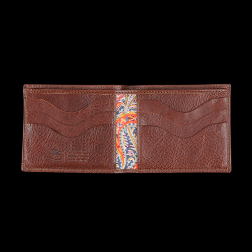 Liberty Bi-fold Wallet in Marrone with Fel Lining