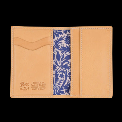Il Bisonte - Liberty Card Case in Naturale with Mor Lining