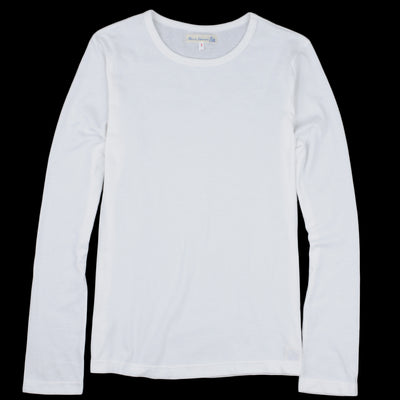 Merz B. Schwanen - 1950's Crew Neck Long Sleeve Tee in White