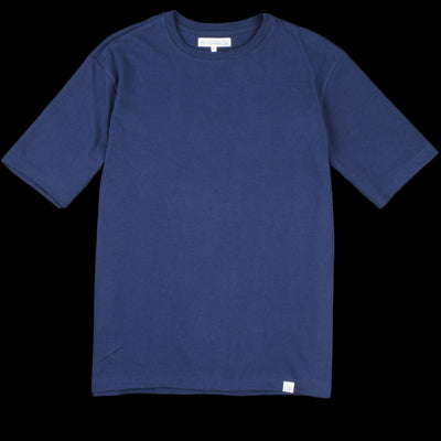 Merz B. Schwanen - Oversized Classic Crew Neck Tee in Ink Blue
