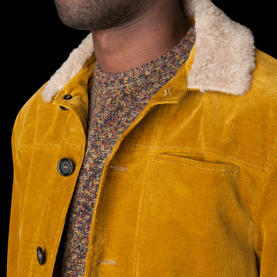Oliver Spencer - Buffalo Jacket in Cord Mustard
