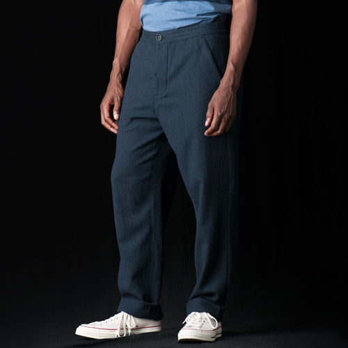 Drawstring Trouser in Caldwell Navy