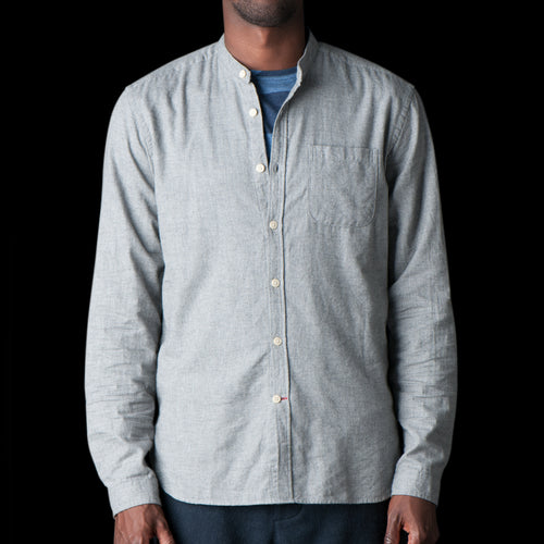 Grandad Shirt in Abingdon Grey