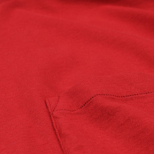 Pocket Tee in Red
