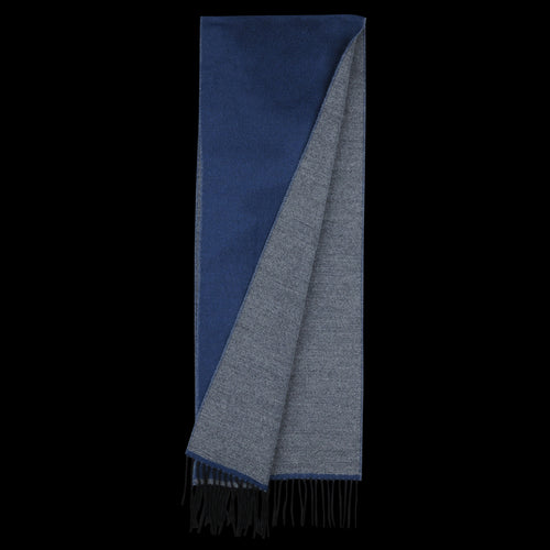 Scarf in Navy & Grey