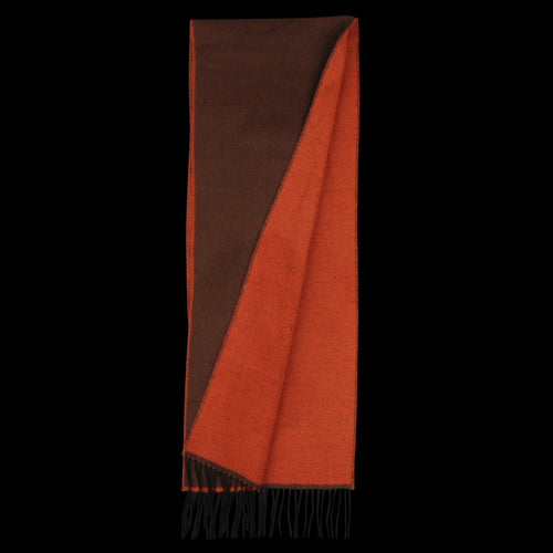 Scarf in Orange & Brown