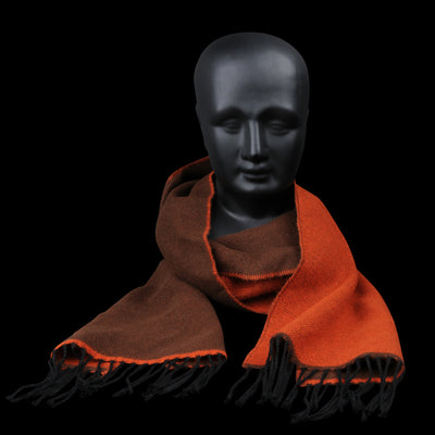 Universal Works - Scarf in Orange & Brown
