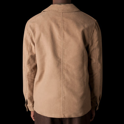 De Bonne Facture - English Moleskin Work Jacket in Taupe