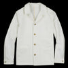 De Bonne Facture - English Cotton Twill Work Jacket in Undyed White