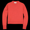 Studio Nicholson - Sebbi English Lambswool Five Gauge Crew Neck in Tomato Melange