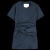 Studio Nicholson - Corsa Wool Twill Twist Tie Top in Dark Navy