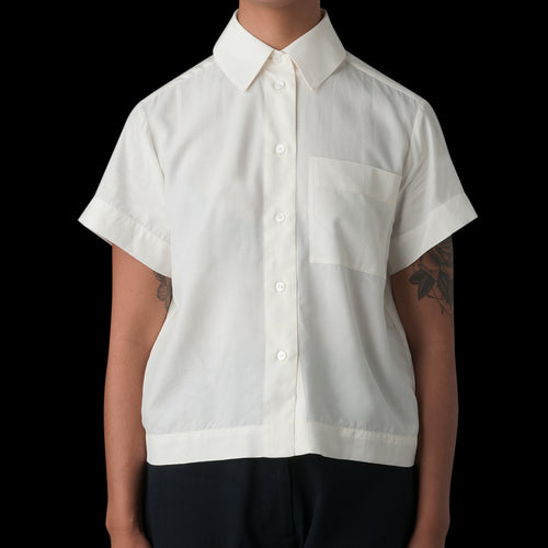 Capuchin Fluid Shirting O'Keefe Shirt in Ivory
