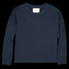 Studio Nicholson - Loop Mercerized Cotton Long Sleeve Volume Tee in Dark Navy