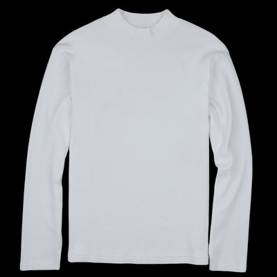 Lady White Co. - Long Sleeve Mock Neck Tee in White