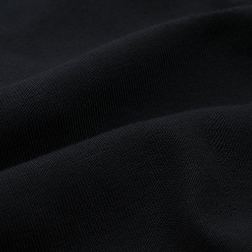 Long Sleeve Mock Neck Tee in Black