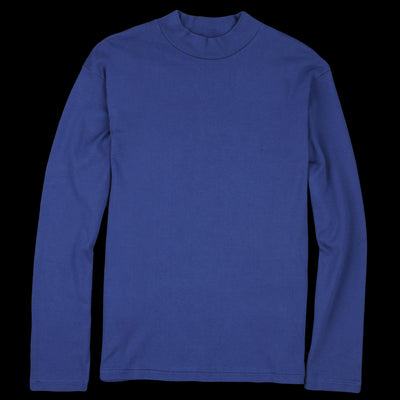 Lady White Co. - Long Sleeve Mock Neck Tee in Victoria Blue