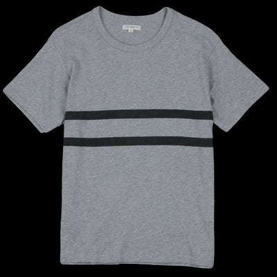 Lady White Co. - Varsity Stripe Tee in Heather Grey & Black