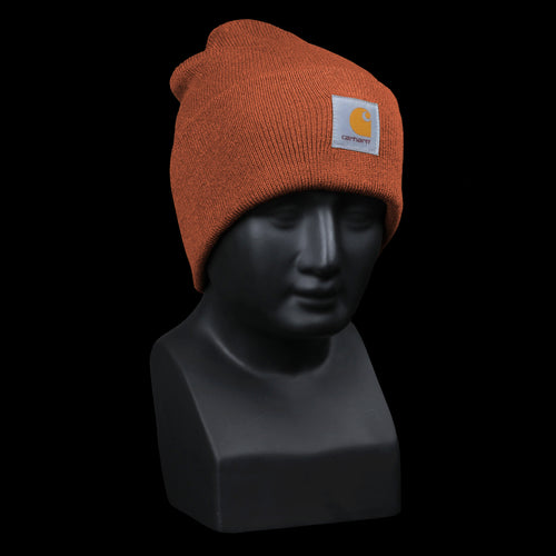 Acrylic Watch Hat in Persimmon