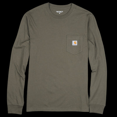 Carhartt Wip - Long Sleeve Pocket Tee in Cypress