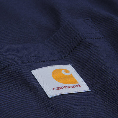 Carhartt Wip - Long Sleeve Pocket Tee in Dark Navy