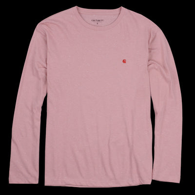 Carhartt Wip - Long Sleeve Neps Chase Tee in Soft Rose