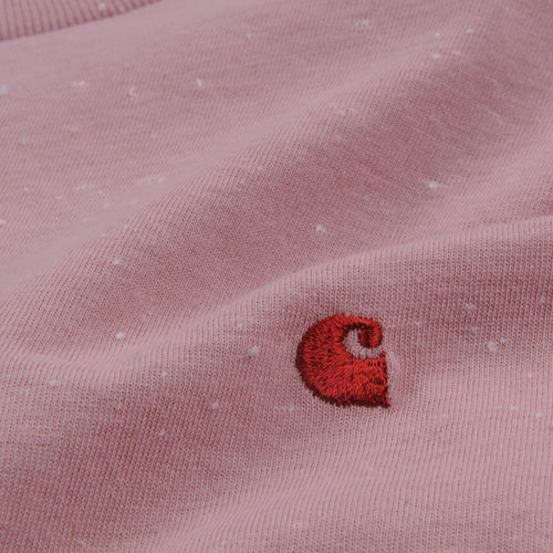 Long Sleeve Neps Chase Tee in Soft Rose