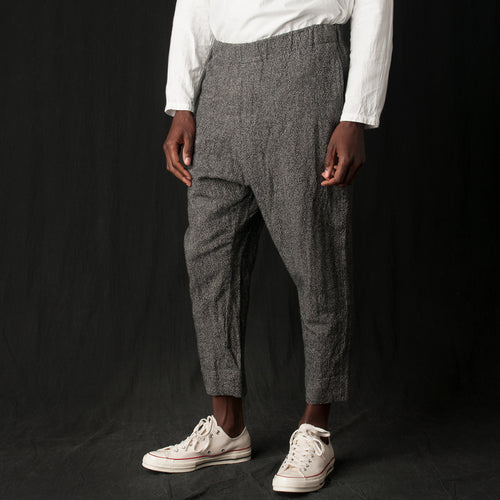 Wool Linen Pant in Houndstooth
