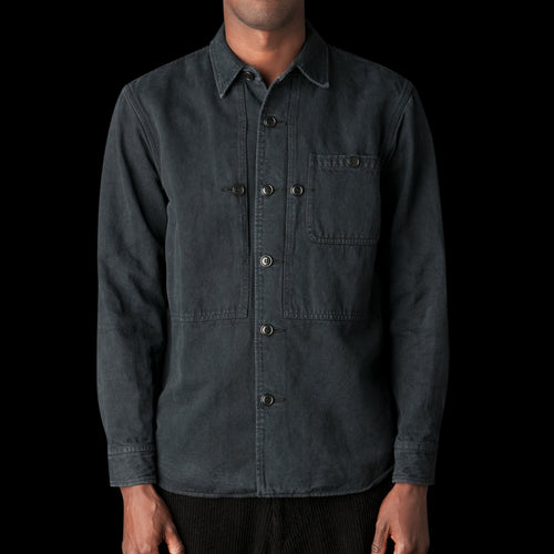 Cotton Linen Jacket in Black