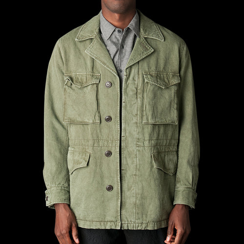 Cotton Linen Jacket in Khaki