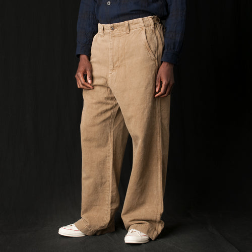 Cotton Linen Pant in Beige