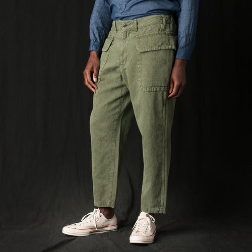 Cotton Linen Pant in Khaki