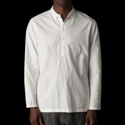 Cotton Popover in White