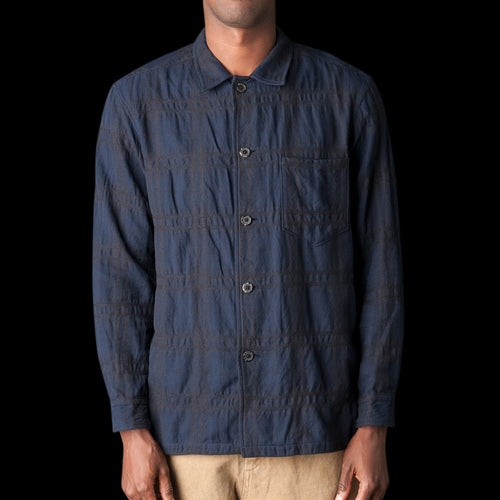Cotton Wool Shirt in Navy