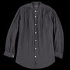 Pas De Calais - Gathered Ramie Blouse in Black