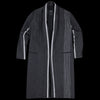 Pas De Calais - Stripe Blanket Coat in Charcoal