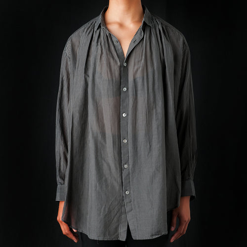 Light Stripe Blouse in Charcoal