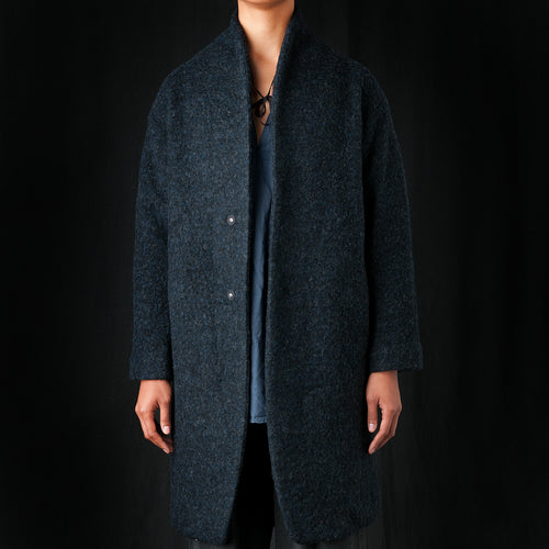 Knit Coat in Midnight
