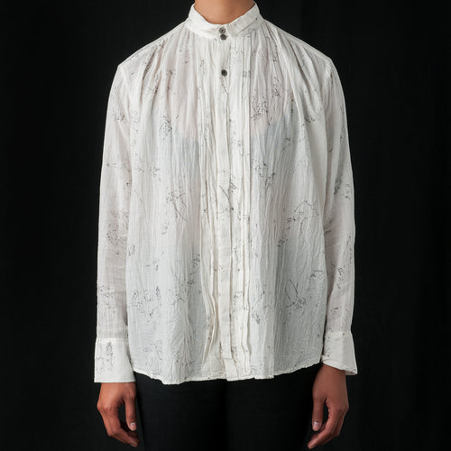 Printed Blouse in Off White