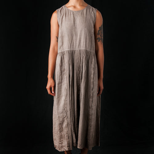 Mud Dye Dress in Grey