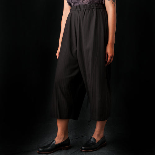 Wide Stripe Pant in Brown