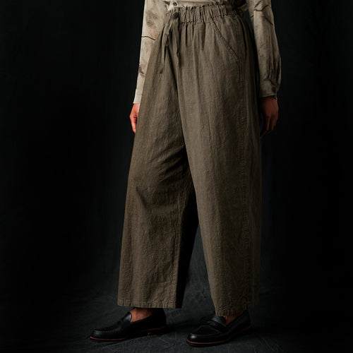 Cotton Majotae Pant in Olive