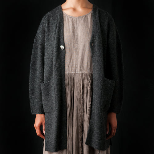 Yak Cardigan in Charcoal