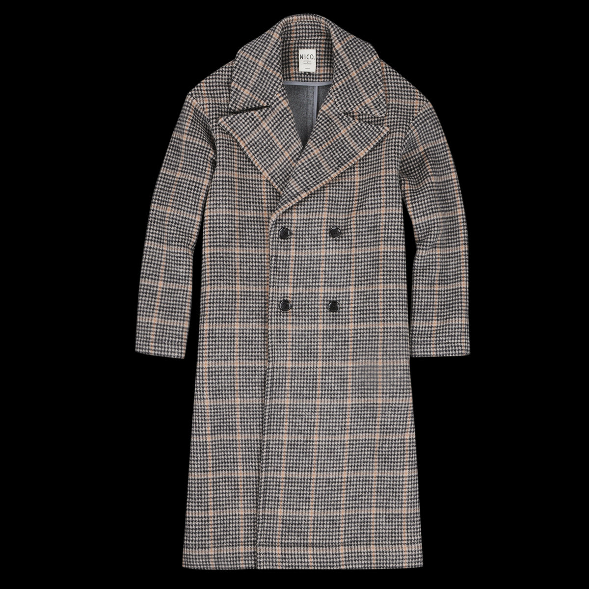 Blue Mountain Coat in Beige Check